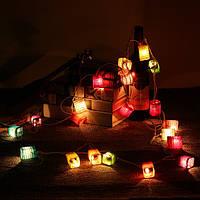 3M 20LEDs Китайский бумажный фонарь Fairy String Light Свадебное Сад AC110-240V US Plug