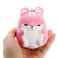 Squishy Розовый Хомяк 10см Медленный рост Симпатичные коллекции животных Подарочный декор Мягкая игрушка
