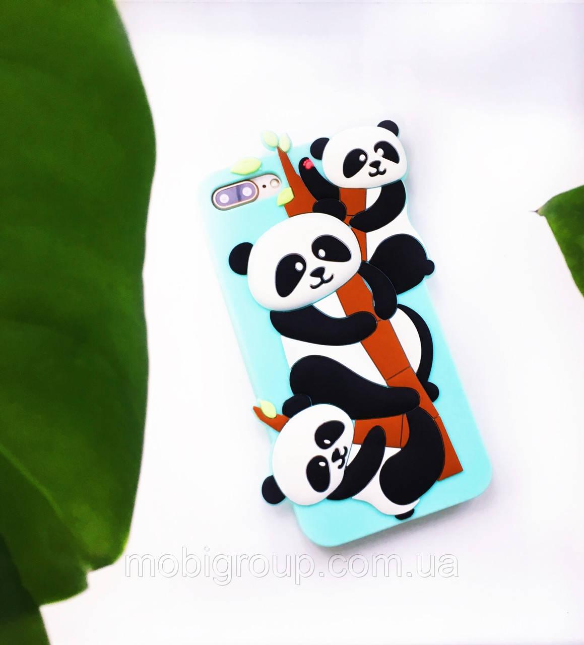 Силиконовый чехол Панда для iPhone 8 Plus