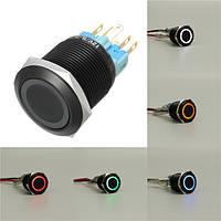 12V 22mm 6 Pin Самоблокирующийся выключатель Led Light Metal Push Button Switch