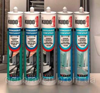 Силикон нейтральный санитарный  280ml Kudo белый, фото 2