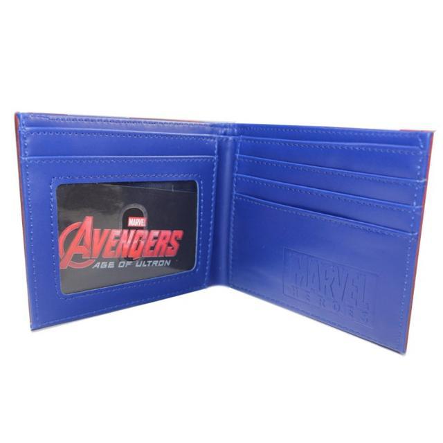Развернутый кошелек Капитан Америка