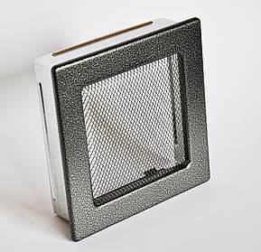 Решетка каминная 17х17 антик серебро, вентиляционная для камина, декоративная