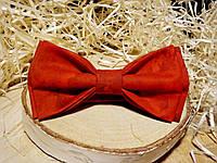 Галстук-бабочка красная с пятнышками оттенков Butterfly, фото 1