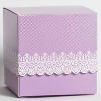 Упаковка для чашек цветная ажурная  (фиолетовая)