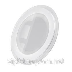 Светодиодный светильник LEDEX круг + стекло врезной 12Вт 4000К