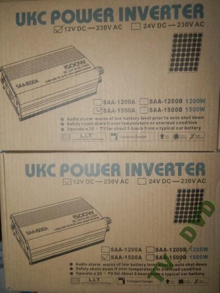 Перетворювач авто інвертор 12В-220В, 1500W USB