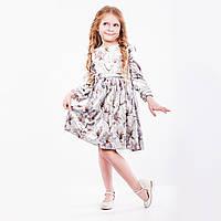 Платье детская  « Велюровое » серое . Нарядное , фото 1