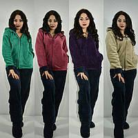 Женский домашний костюм-двойка материал турецкая махра, размеры 52/54, 54/56. Разные цвета