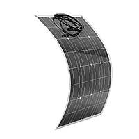 Elfeland 80W 12V Полугибкая панель Солнечная с 1,5-метровым кабелем для RV Лодка Батарея Зарядное устройство