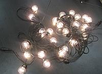 """Гирлянда-нить шарики 10м HOLIDAY """"Bulb 50 ламп"""" белый, теплый белый"""