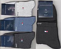Носки мужские спортивные махровые х/б Tommy Hilfiger, средние, ассорти, 41-45 размер, 11103