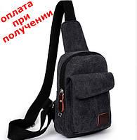Чоловіча спортивна тканинна сумка барсетка рюкзак бананка купити AMN