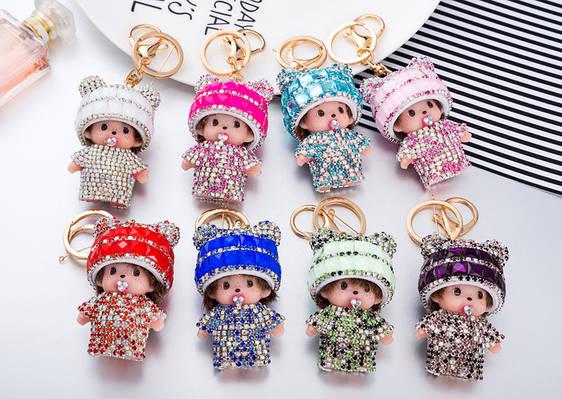 Брелок на сумку Мончичи с мини-ушками