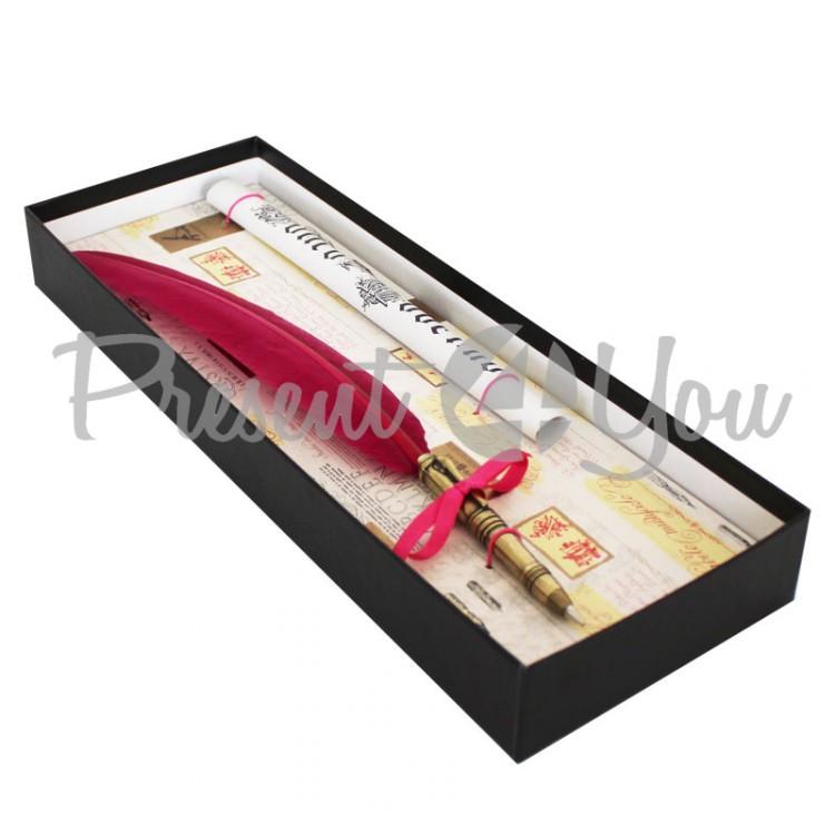 Набор для каллиграфии ( розовое перо), 35,5х13 см La Kalligrafica  (127-0038)