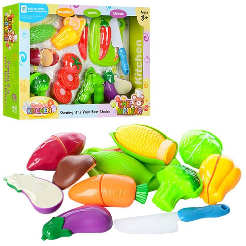 Игровой набор овощей на липучках, WD-Q12-13