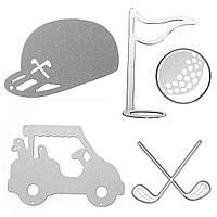 4шт Purple Golf Cutting Dies Stencil для DIY Подарочная бумага для подарочной карточки для альбома Scrapbook