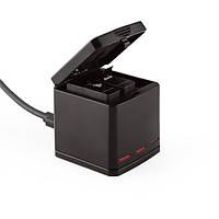TELESIN 3-полосная многофункциональная Батарея Зарядное устройство для зарядки док-станции Чехол Коробка для GoPro Hero 5 камера