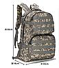 Тактический Штурмовой Военный Рюкзак на 35-40литров Черный, фото 2