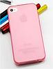 Стильный розовый силиконовый чехол iphone 4/4s