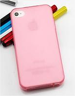 Стильный розовый силиконовый чехол iphone 4/4s, фото 1