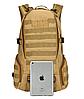 Тактичний Штурмової Військовий Рюкзак на 35литров Чорний, фото 4