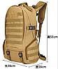 Тактичний Штурмової Військовий Рюкзак на 35литров Чорний, фото 5
