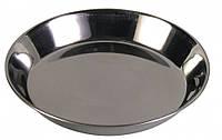 Миска металлическая плоская 0,2 л 13 см Trixie для собак и кошек
