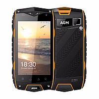 """Неубиваемый смартфон AGM A7 Orange оранжевый IP68 (2SIM) 4"""" 2/16GB 2/8Мп 3G 4G оригинал Гарантия!"""