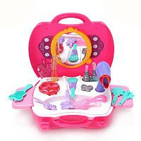 РозовыйДевушкиКосметикаИгрушкиSetТуалетный столик Игрушки для детей Детский подарок
