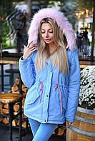 Модная женская куртка-парка с мехом / Украина / парка, фото 1