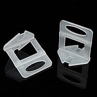 100Pcs 2 мм Плитка Система выравнивания Пластиковые для домашнего пола