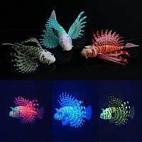 Yani Аквариум Орнамент Светящийся эффект Силиконовый Искусственное украшение для рыбного бака