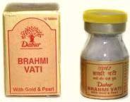 Брами вати с золотом и жемчугом 10 таб.,Дабур (Brahmi Vati Gold), Dabur