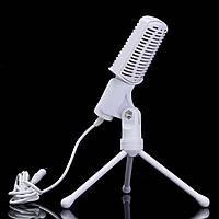LEORY Поворотный конденсатор 3,5 мм KARAOKE Микрофон Микрофонная подставка Микрофон с держателем