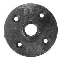 1/2 дюймов Черная резьбовая подлокотниковая крышка из металлического пола Стальная железная труба для монтажа на стену