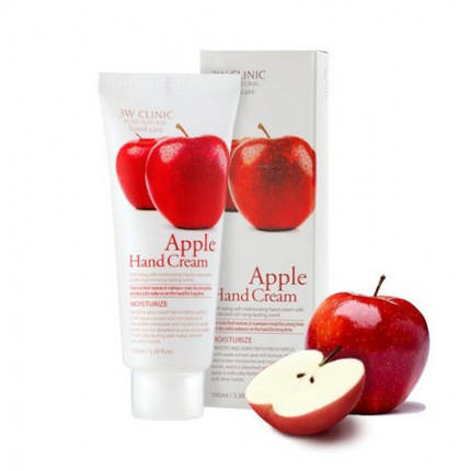 Увлажняющий крем для рук 3W Clinic Apple Hand Cream, 100 мл, фото 2