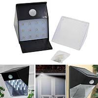 Солнечная Powered 12 LED PIR Motion Датчик Настенный светильник На открытом воздухе Сад Лампа