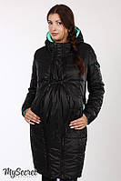 Куртка для беременных зимняя Kristin черная-мята