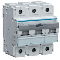 Автоматический выключатель 100A 10кА 3 полюса тип C HLF390S Hager