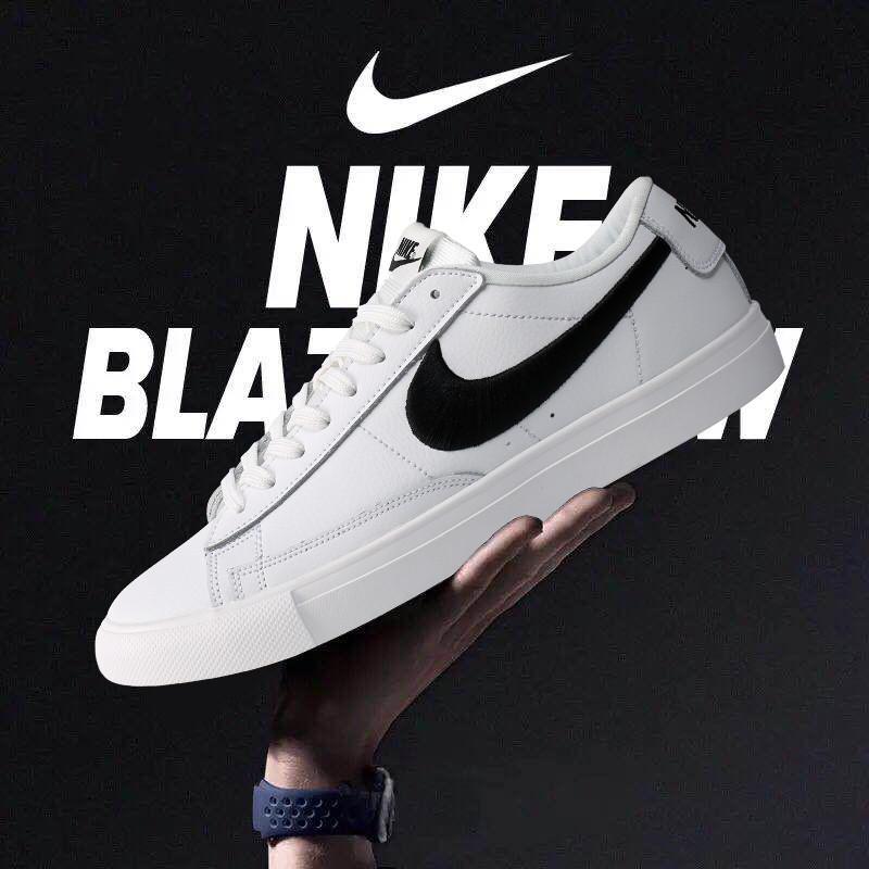 e8a1ae3c Кроссовки Nike Blazer Low найк мужские женские 371760-109 реплика ...