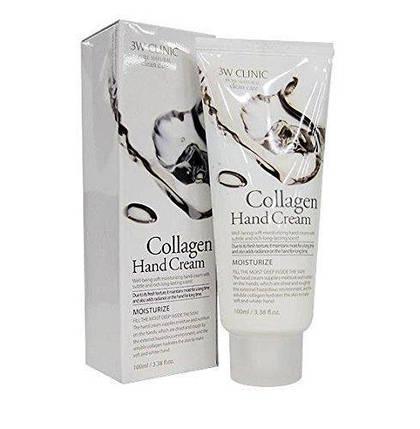 Увлажняющий крем для рук с коллагеном 3W Clinic Collagen Hand Cream, 100 мл, фото 2
