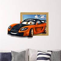 3d детская комната украшения спортивный автомобиль наклейки для стен мальчиков комната съемные бумажные наклейки