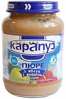 Пюре Карапуз Яблоко и вишня, 200 г