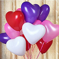 Украшение сердце любовь воздушными шарами Валентина предложение свадьба 100шт 12inch