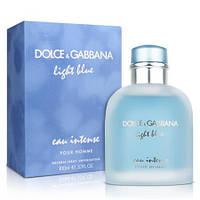 Мужская парфюмированная вода Dolce Gabbana Light Blue Eau Intense Pour Homme  (реплика)