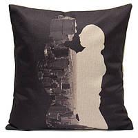 Черный и белый любовника белье хлопок бросить подушку крышки случая диван автомобиля офис подушки