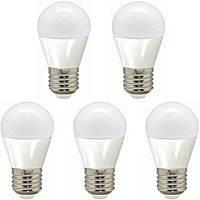 LED 7W Набор светодиодных  ламп Feron шар Е27 4000К --5 штук