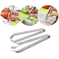 Нержавеющая сталь Рыбная косточка Remover Pincer Puller Peeer Tongs Pick-Up Инструмент Craft Home Kitchen Gadget