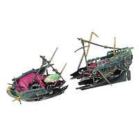 Yani Аквариум Украшение Рыбалка Лодка Украшение кораблекрушения Лодка Растение для рыбного бака